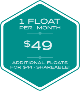 1 Float per Month for $49. Additional floats for $44. Shareable!